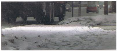 snowy sidewalks